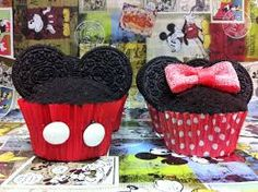 cupcakes decoración de mickey mouse - Buscar con Google