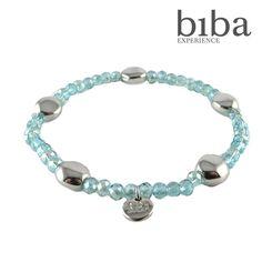 Biba armbandje blauw zilver | Gewoon! Sieraden