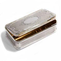 Thomas Scheidl, Wien 1863: Antike Tabak Dose, Silber Schnupftabak, Silver Snuff