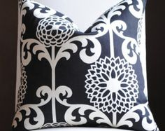 Black & White Pillows by Maria on Etsy