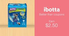 HUGGIES Pull-Ups Night-Time Training Pants Coupon - Ibotta.com Diapers - Ibotta.com - Get a $ back when you purchase.   use my referral link  https://ibotta.com/r/rqraoii  Then check your app for a special $10 Welcome Bonus