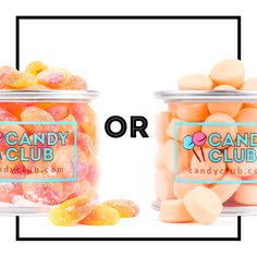 Peach Slices or Orange Chews?! If you were stranded on a deserted island and could choose only one? #thisORthat #candyclub #candyofthemonth