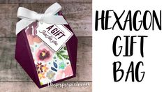 Hexagon Gift Bag with Video Tutorial - The Paper Pixie Paper Gift Box, Diy Gift Box, Diy Box, Gift Boxes, Hannelore Drews, Craft Packaging, Origami For Beginners, Creative Box, Origami Design
