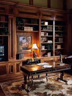 4 Helpful Hints for Buying Mahogany Furniture 33 Charming Home Interior Ideas That Will Inspire You – 4 Helpful Hints for Buying Mahogany Furniture Source Modern Interior, Home Interior Design, Home Libraries, Design Seeds, Home Office Desks, Office Rug, Office Decor, Office Chairs, Trendy Home