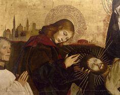 Saint Jean retirant la couronne d'épines (détail); Enguerrand Quarton – La Pietà de Villeneuve-lès-Avignon, 1455 | Musée du Louvre