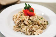 Chicken and Rice...uses Thrive products, including Veloute Sauce(Chicken Gravy).