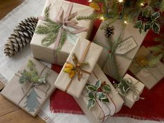 bits of nature #giftwrap