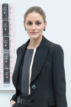 Olivia Palermo Wears Different Colour Dior Pearl Studs At A Pepsi Launch In New York, 2014