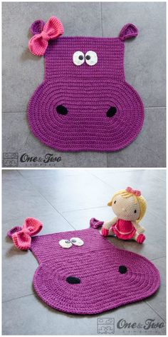 Are you on the hunt for some gorgeous Crochet Animal Rugs to make? Elephant Rug Crochet, Crochet Hippo, Crochet Turtle, Crochet Cross, Crochet Animals, Crochet For Kids, Crochet Granny, Chrochet, Crochet Poncho Patterns
