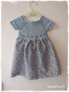 Knit topped dress