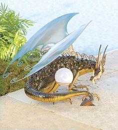 Dragon Solar Garden Sculpture