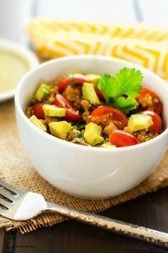 Avocado Quinoa Salad with Chipotle Lime Dressing - Cooking Quinoa