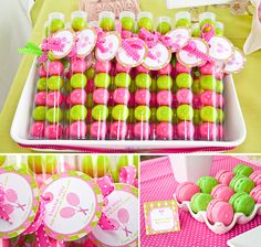 I love these gumballs in a tube for party favors! preppy tennis party hostess blog-8