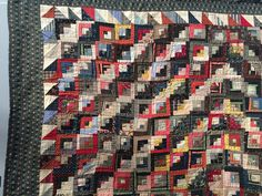 Humble Quilts: Flashback Friday!...antique log cabin, amazing!
