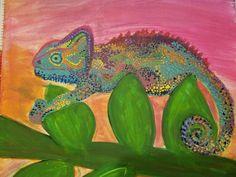 Peinture caméléon par Kalshanclay sur Etsy