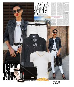 """""""Steppin' Out"""" by talvadh ❤ liked on Polyvore featuring Paige Denim, Topshop, Guild Prime, Mauboussin, Janna Conner, Givenchy, Kate Spade, D'Amico, Le Specs and Cara"""