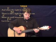Let it Be (The Beatles) Strum Guitar Cover with Chords/Lyrics - YouTube