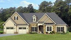 Elevation of Ranch   House Plan 54047