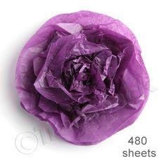 480 Sheets Burgundy Tissue Paper 500x750 Acid Free