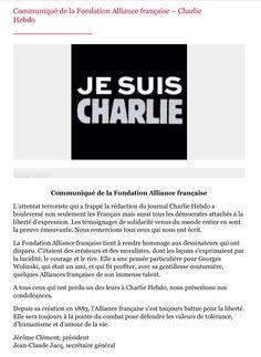 Je suis Charlie. L'Alliance Française.