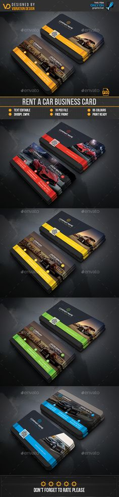 Rent A Car Business Card — Photoshop PSD #red #black • Available here → https://graphicriver.net/item/rent-a-car-business-card/17384416?ref=pxcr