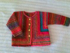 Voici unejaquette de chez Drops modèle 18-25, faite avec la Mille Colori Baby de chez Lang Yarn    ...