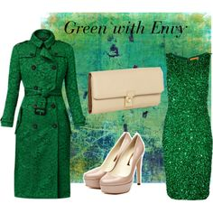 """Green with Envy"" by suzanne-rian on Polyvore"