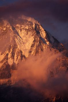 Purple Hue Sunset on Annapurna by Tristan Brittaine on 500px