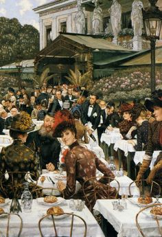 The Athenaeum - The Artist's Ladies (James Tissot - ) Chrysler Museum of Art - Norfolk (Va)  (United States - Norfolk, Virginia) Dates: 1883-1885 Artist age:Approximately 49 years old. Dimensions: Unknown Medium: Painting - oil on canvas