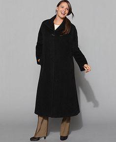 Jones New York Plus Size Coat, Wool-Blend Maxi - Womens - Macy's