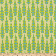 Anna Maria Horner Pretty Potent Voile Aloe Vera Lime from @fabricdotcom  Designed by Anna Maria Hornder for Free Spirit Fabrics, this cotton voile fabric has a soft hand, excellent drape, and is slightly sheer. This fabric is perfect for apparel such as blouses, tunics and dresses. Colors include blue, light green, lime yellow, and a butter background.