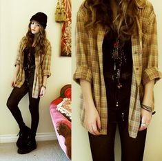 GOING GRUNGE (by Bebe Zeva) http://lookbook.nu/look/1509657-GOING-GRUNGE
