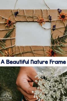 Nature Crafts Please Pin this activity if you love it! Forest School Activities, Nature Activities, Outdoor Activities For Kids, Outdoor Learning, Spring Activities, Crafts For Kids, Kids Nature Crafts, Diy Crafts, Recycled Crafts