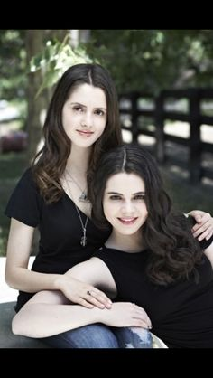 Vanessa Marano and Laura Marano.... How did I not know they were sisters?!