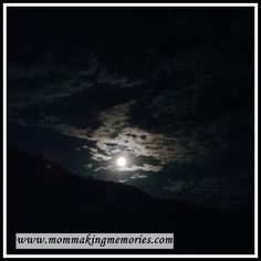 Finding rest... moon shining over mountain
