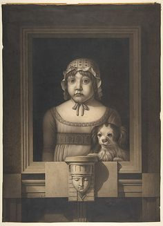 Bobo the dog faced girl 1796-1797 Jean Jacques Lequeu  (French, Rouen 1757–1825 Paris)  Date: ca. 1796–97 Medium: Pen and black and gray ink, brush and gray wash