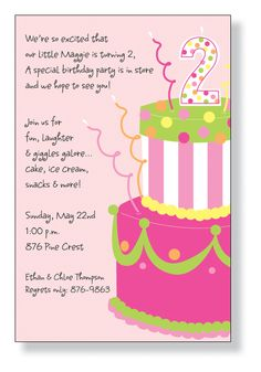 Cute, cute birthday invitation!