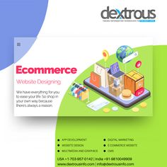 We have everything for you to ease your life. So shop in your own way because there is always a reason. Dextrous Infosolutions is a renowned Ecommerce Website Design Company. The company has developed many ecommerce websites under the guidance of expert website developers by making use of contemporary technology. Website Development Company, Website Design Company, App Development, Advertising Services, Online Advertising, Ecommerce Website Design, Ecommerce Websites, Free Classified Ads, Information Technology
