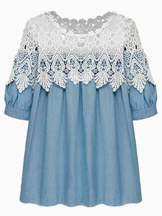 There is something about this denim and lace top that I love ... Only $19 http://rstyle.me/n/m9gk2mnje