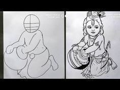 very easy line art bal krishna,krishna thakur drawing,how to draw bal gopal,how to draw lord krishna Lord Krishna Sketch, Krishna Drawing, Krishna Painting, Ganesha Sketch, Art Drawings Sketches Simple, Pencil Art Drawings, Easy Drawings, Pencil Sketching, Realistic Drawings
