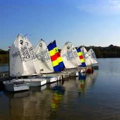 Optimist sailing dingy