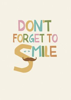 Don't forget to smile por Gayana en Etsy