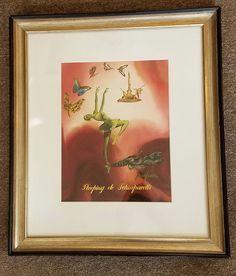 MARCEL VERTES ADVERTISING WATERCOLOR SLEEPING de SHIAPARELLI PARFUMS-RARE c1940 #IllustrationArt