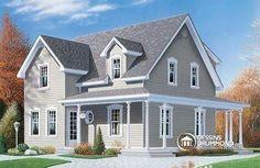 Chalet à la fois champêtre, versatile & confortable !   Découvrez les planchers, plus d'information & les plans similaires : http://www.dessinsdrummond.com/detail-plan-de-maison/info/1000158.html  #Maison3Chambres #PlanDeMaison #PlanDeCottage #Cottage3Chambres #Cottage #PlanDeMaionAbordable http://ow.ly/i/5ANq1