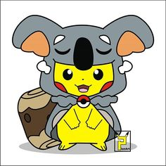 Aw so cute.... A new pokemon nekkoala #nekkoala #pikachu #pikazard #pokemon…