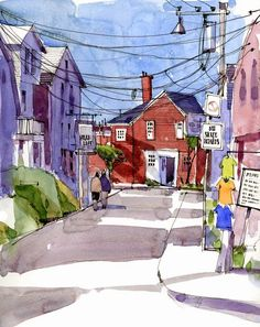 When the crowds leave Rockport | Urban Sketchers