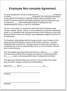 Non Compete Agreement Template Creating A Non Compete Contract For Your  Employees   TechRepublic
