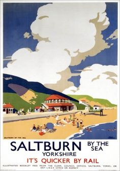 ENGLAND - YORKSHIRE - NORTH YORKSHIRE, Saltburn by the Sea, LNER Vintage Travel Poster.