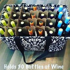 The Large Utility Tote holds 30 bottles of wine!