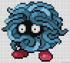 Tangela Pokemon Perler Bead Pattern